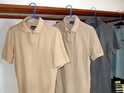3枚のポロシャツ