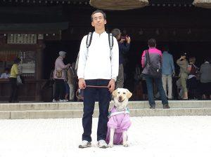 川上さんとジェシーの写真