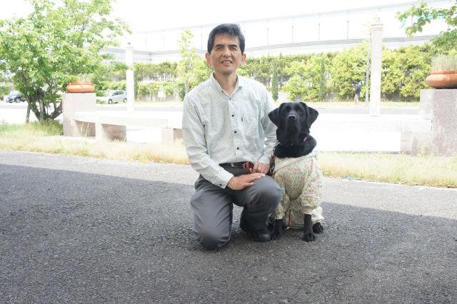 田辺さんとシャインの写真
